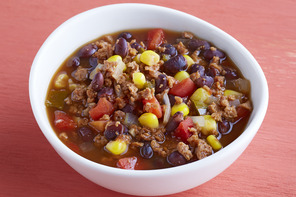 Western Bean and Burger Soup