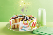 Survivor Birthday Party Poke Cake