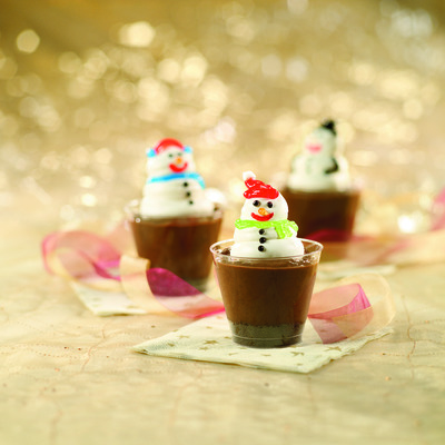 Snowman Pudding Cups