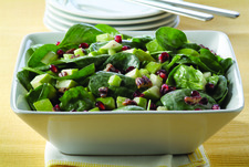 Pomegranate-Spinach Salad with Apples