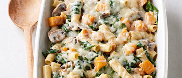 Baked Ziti with Squash and Mushrooms