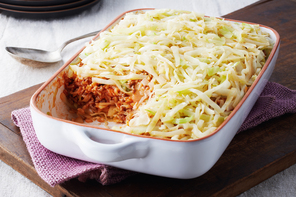Easy Layered Cabbage Casserole