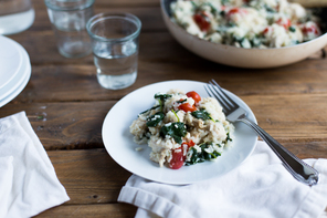 Risotto with Chicken and Spinach