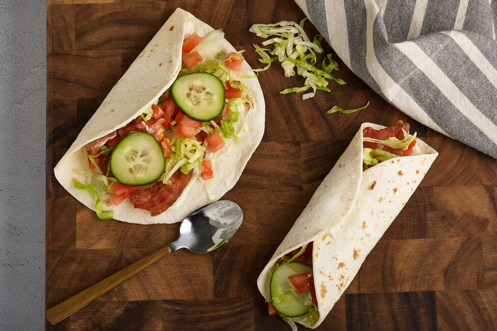 Warm BLT Wraps