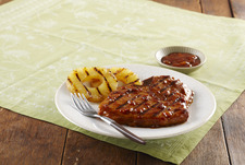 Glazed Pineapple Chops