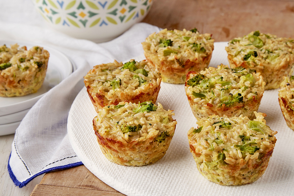 Broccoli and Cheese Rice Cups
