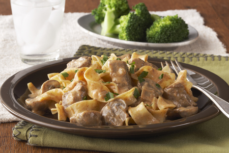 Slow-Cooker Beef Stroganoff Dinner Menu