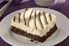 Easy Brownie-Bottom Cinnamon-Orange Latte Cheesecake