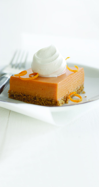 Orange-Pumpkin Mousse Squares