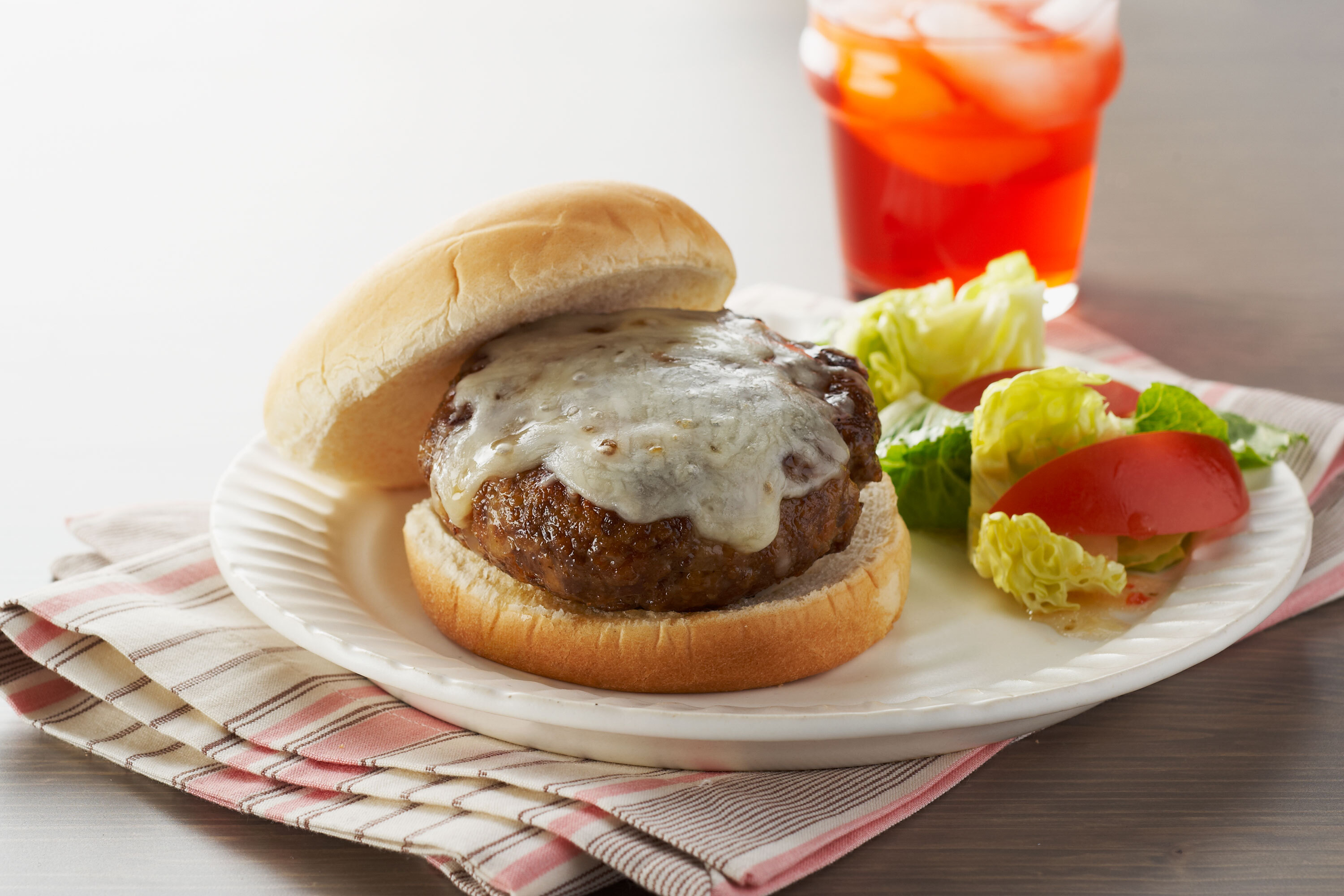 Five-Cheese Skillet Burgers