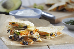 Black Bean-Sweet Potato Quesadillas