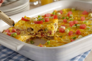 Crustless Cheese and Bacon Quiche