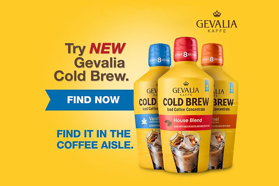 GEVALIA Cold Brew with Affogato Ice Cream