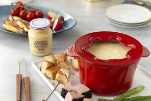 Gruyere and Cheddar Fondue