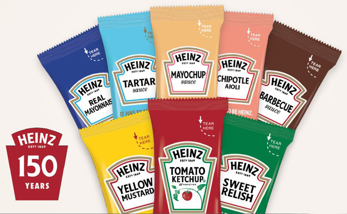 NEW Refreshed Packaging for ALL Heinz Condiment Packets!