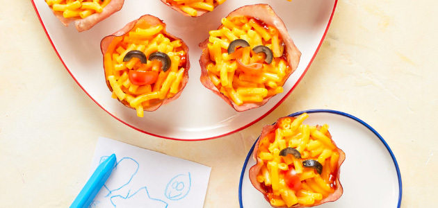 Emoji Mac and Cheese Cups