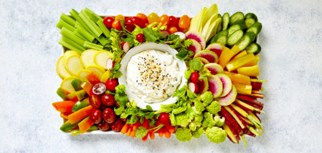 Everything Bagel Dip with Veggies