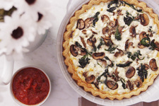Egg White Quiche with Spinach, Mushrooms and Feta