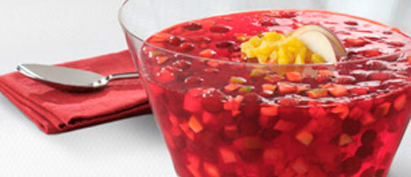 Festive Cranberry-Pineapple JELL-O Salad