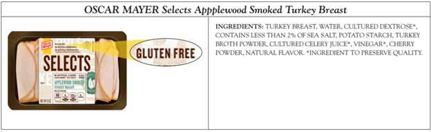 Oscar Mayer Selects Gluten Free Product