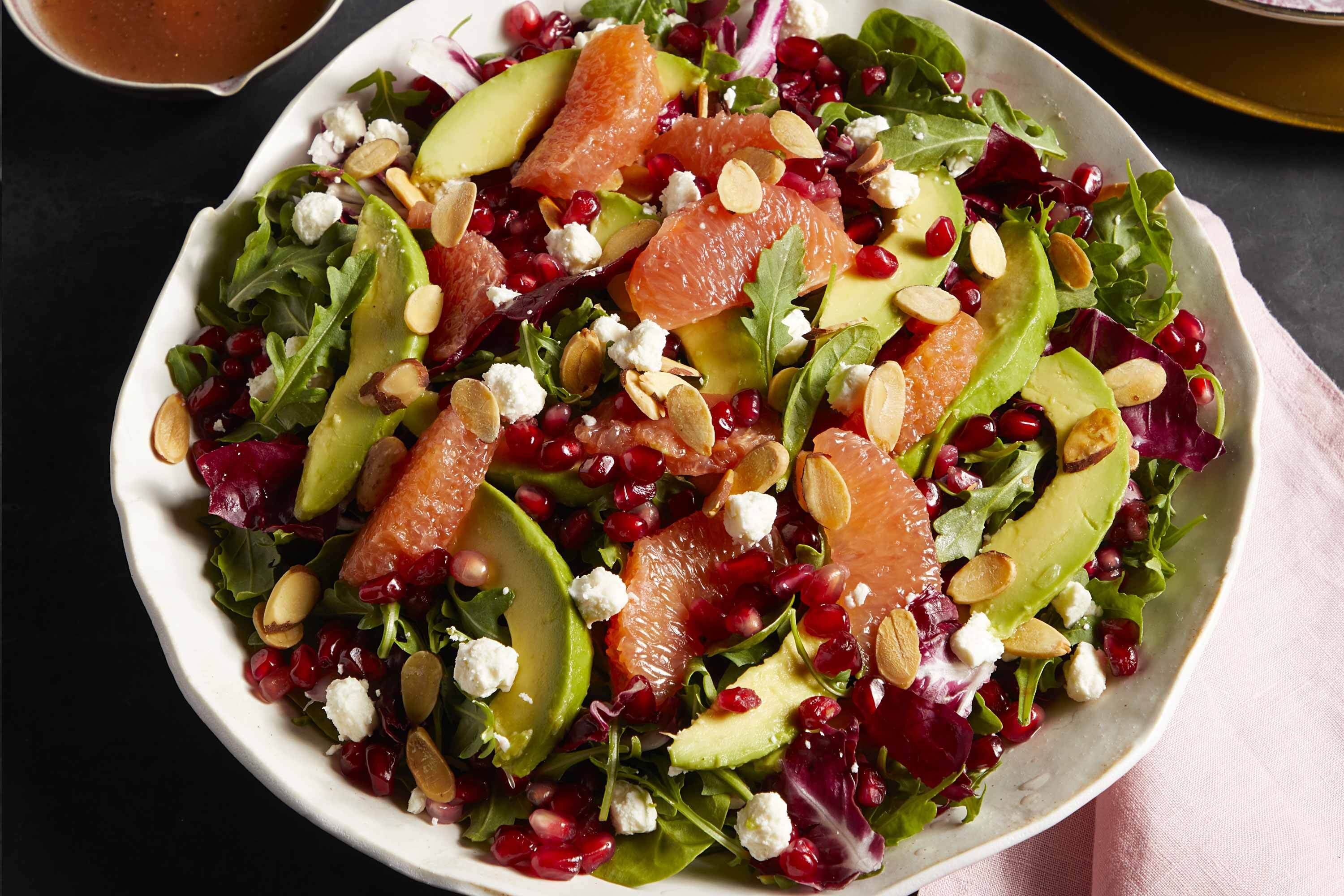 Grapefruit Pomegranate Salad with Avocado