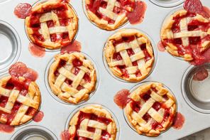 Lemon-Strawberry Mini Pies