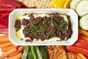 Baked Olive Tapenade-Cream Cheese Spread