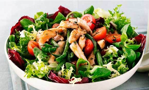Chicken, Green Bean and Tomato Salad