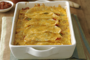 Cheesy Vegetable Tortilla Bake