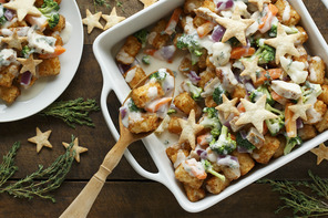 Chicken Pot Pie Loaded TATER TOTS®