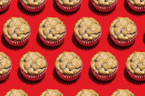 Banana Bread Muffins with Flax Seed