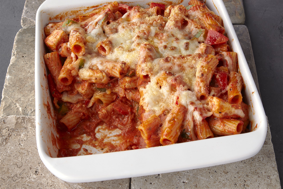 Chicken & Pepper Pasta Bake
