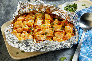 Foil-Packed Chipotle Sweet Potatoes