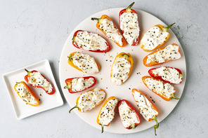 Bell Pepper-Cream Cheese Snackers