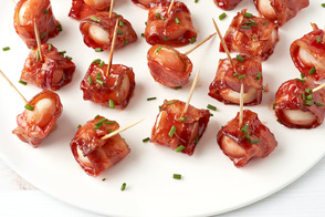 Bacon-Wrapped Water Chestnut Appetizers