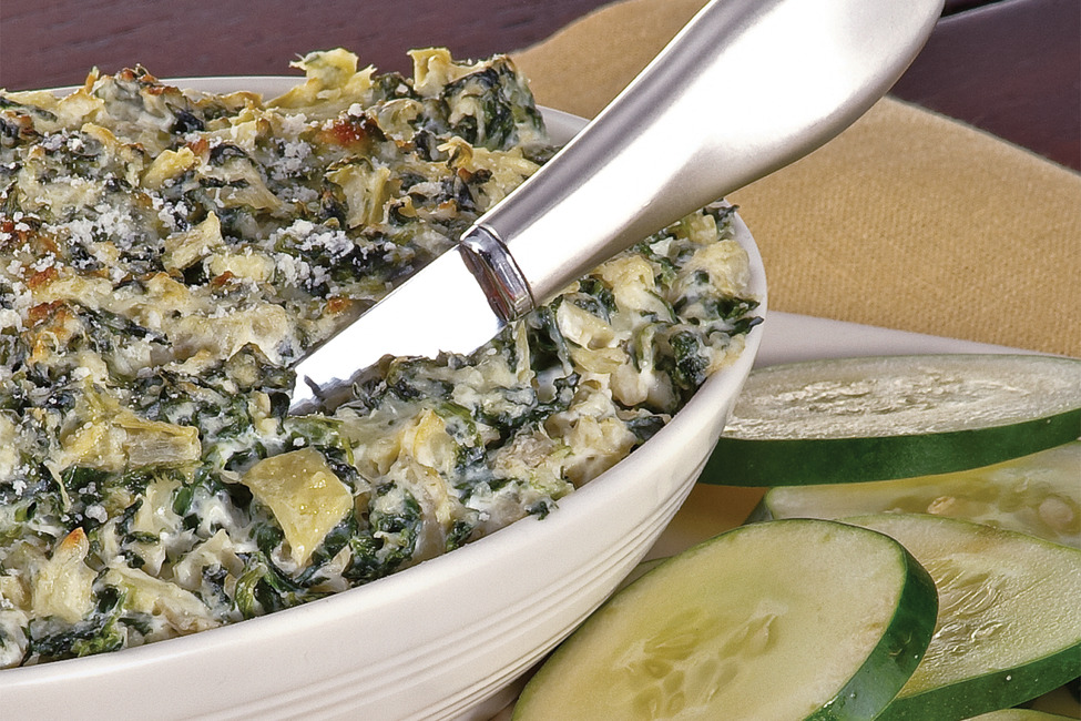 Savory Parmesan Spinach Artichoke Dip My Food And Family