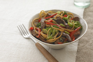 Beef and Noodles Bowl with Vegetables