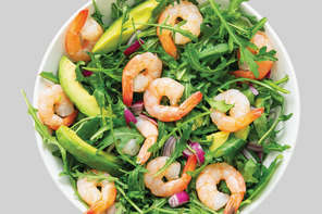 Greek Shrimp- Arugula Salad