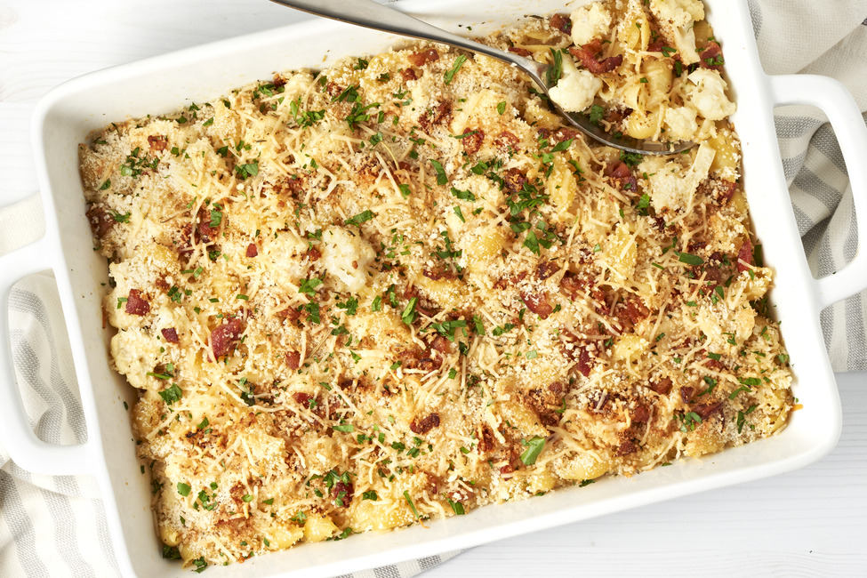 Cauliflower-and-Parmesan Pasta Bake