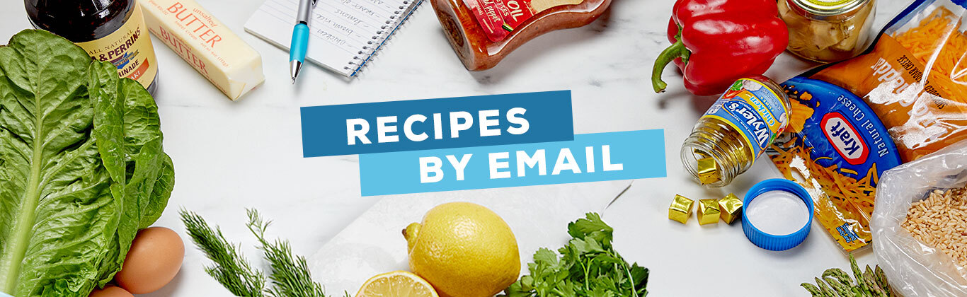 Sign Up for Recipes By Email