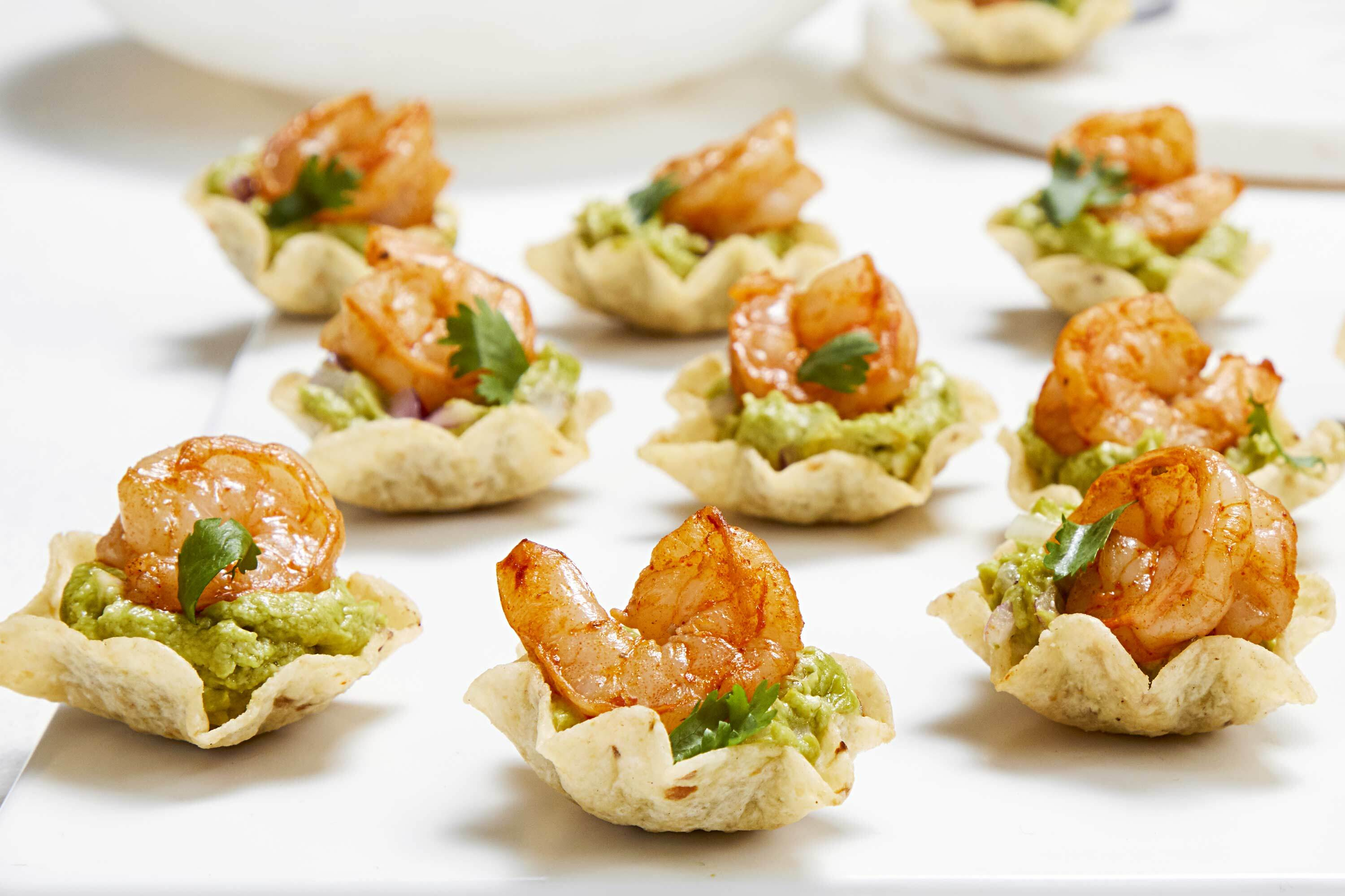 Shrimp 'n Guacamole Cups