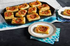 Tomato-Basil Cheese Puffs